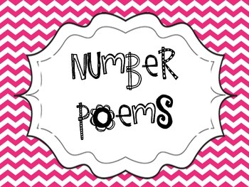 Number Poems Pink and Green Chevron