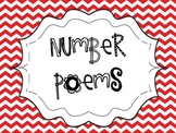 Number Poems Red and Yellow Chevron