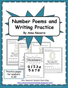 Number Poems and Writing Practice
