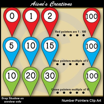 Number Pointers Clip Art