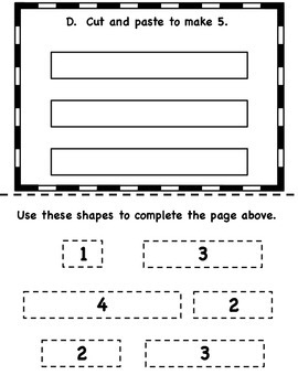 Number Bonds Interactive Morning Math Workbook #5 {K, Grade 1, 2}