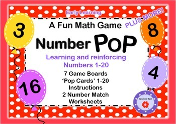 Number Pop- Math Game for Early Learners (1-20)