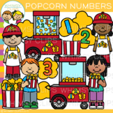 Number Popcorn Math Clip Art