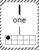 Number Poster 0-20- Black Stripes