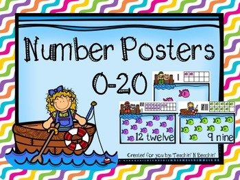 Number Posters 0-20- Fishing/ Ocean Themed
