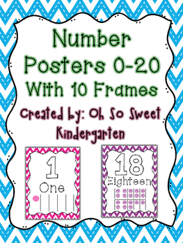 Number Poster 0-20 with 10 Frames