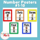 Number Poster #1-10 Rainbow Color Order Borders