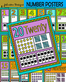 Number Posters and Cards 1-20