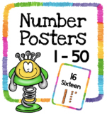 Number Posters 1 - 50