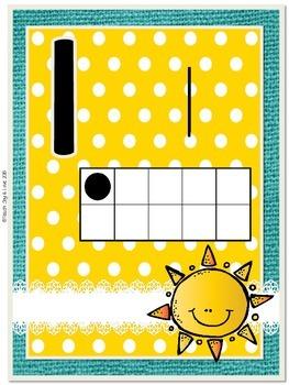 Number Poster Cards {Sunshine, Lace, & Burlap Decor.}