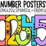 Number Posters   Spanish Numbers   French Numbers
