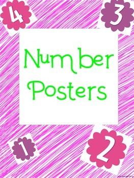 Number Poster English and Spanish
