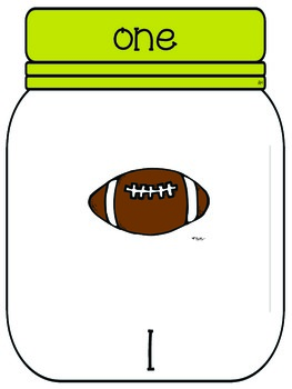 Number Poster- Football
