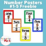 Number Poster Freebie #1-5