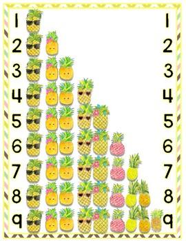 Number Poster Freebie - Pineapples!