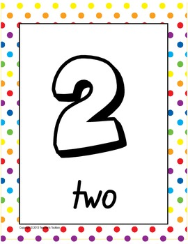 Number Poster Set - 0 to 10