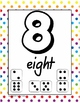 Number Poster Set - 0 to 10 - multiple representations - dice for each number