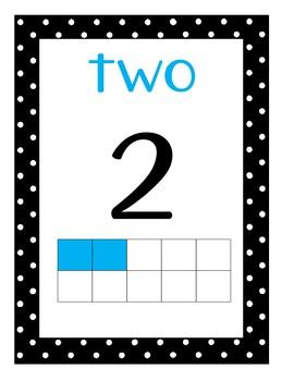 Number Poster w/ 10 frames