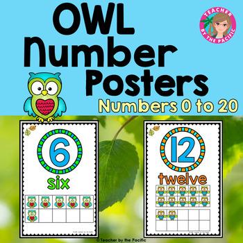 OWL Math Ten Frame Number Posters 0-10 ~ Kindergarten Common Core