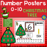 CHRISTMAS Math Number Anchor Charts 0 - 10 ~ Kindergarten Common Core