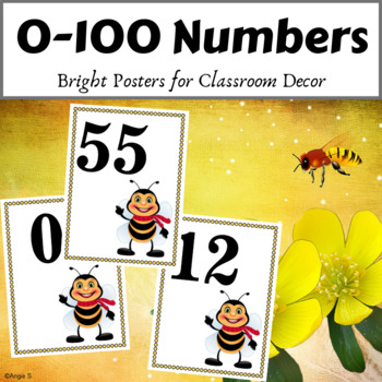 Number Posters 0 - 100 for Classroom Decor