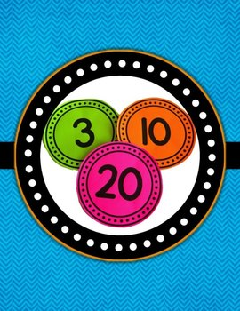 Number Posters 0-120