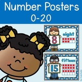 Number Posters 0-20 with Ten Frames (Back to School, Class