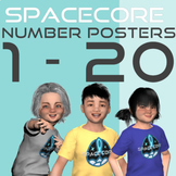 Number Posters 0 - 20 | Space Theme
