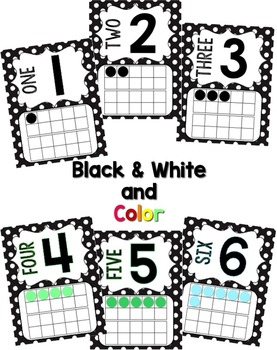 Number Posters 0-20 - Black & White Polka Dot {Fun Font}