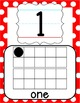 Number Posters 0-20 - Black, White & Red Polka Dot