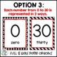 Number Posters 0-20   Black, White, & Red Decor