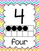 Number Posters 0-20 {Bright Chevron}