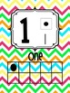 Number Posters 0-20 Bright Chevron