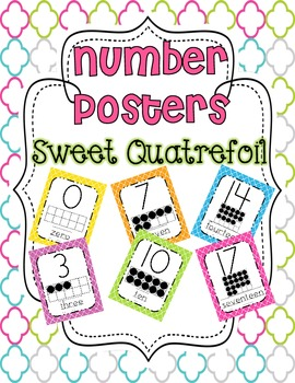 Number Posters 0-20 {Sweet Quatrefoil}