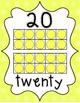 Number Posters 0-20 - Bright Shades of Polka Dot