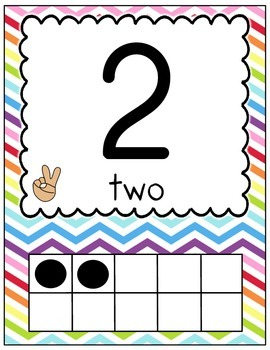 Number Posters 0-20 (Chevron)