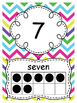 Number Posters 0-20~ Chevron