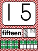 Number Posters 0-20 Chevron Primary Colors