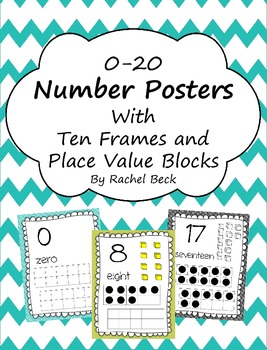 Number Posters 0-20 {Color and B&W}