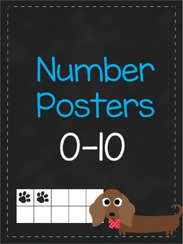 Number Posters 0-20 {Dog Themed}