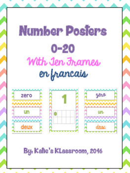 Number Posters 0-20 En Francais