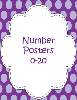 Number Posters 0-20 (English)