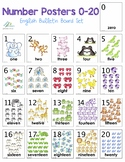 Number Posters (0-20 English Bulletin Board Set)