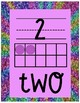 Number Posters 0-20 Glitter Rainbow Theme