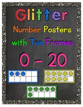 Number Posters 0-20 (Glitter and Chalkboard)