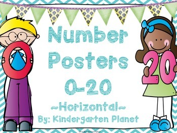 Number Posters 0-20 - Horizontal
