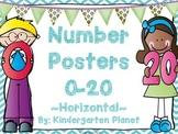 Number Posters 0-20 - Horizontal