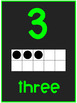 Number Posters 0-20- Lime Green
