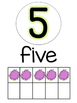 Number Posters (0-20) (Lorax Truffula Tree dots)