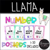 Llama Ten Frame Number Posters 1-20- Classroom Decor